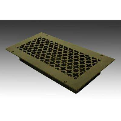 14 in. x 6 in. Oil Rubbed Bronze Poweder Coat Steel Wall Ceiling Vent with Opposed Blade Damper
