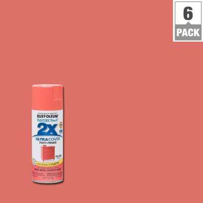 12 oz. Coral Gloss General Purpose Spray Paint (6-Pack)