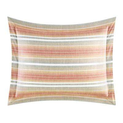 Sunrise Stripe Coral King Sham