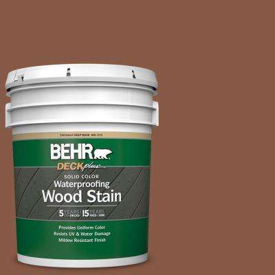 5 gal. #SC-142 Cappuccino Solid Color Waterproofing Exterior Wood Stain
