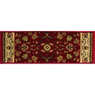 Sapphire Sarouk Claret 9 in. x 26 in. Stair Tread Cover