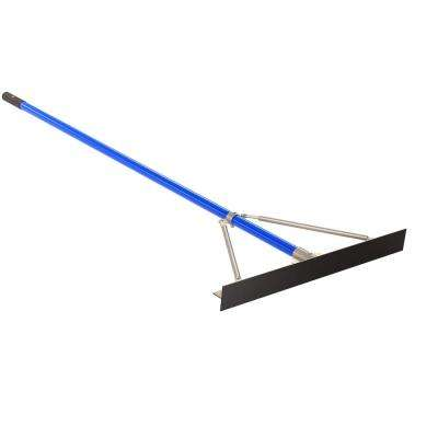 6 ft. Aluminum Handle 30 in. Smooth Asphalt Luke Rake