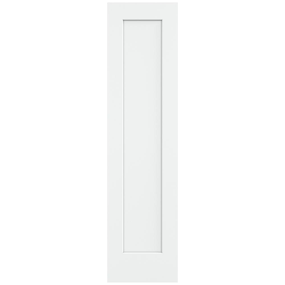 20 in. x 80 in. Madison White Painted Smooth Solid Core