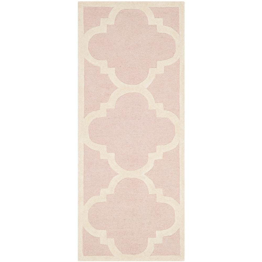 Safavieh Cambridge Light Pink/Ivory 2 ft. 6 in. x 12 ft. Runner