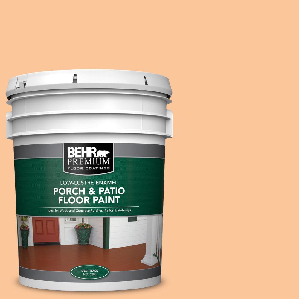 5 gal. #P230-4 Citrus Punch Low-Lustre Enamel Interior/Exterior Porch and Patio Floor Paint