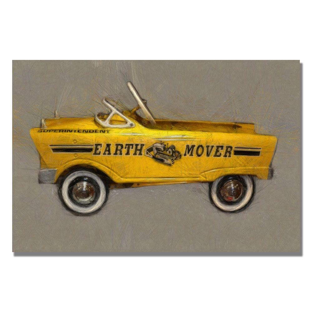 35 in. x 47 in. Earth Mover Pedal Car Canvas Art