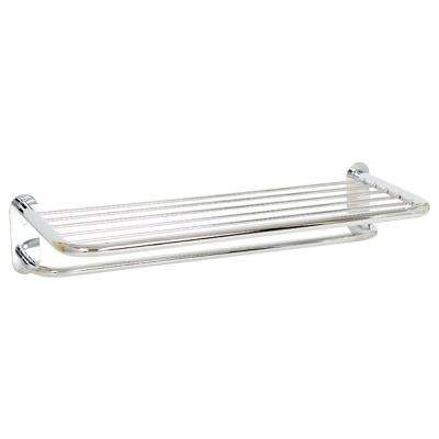 Hotel Series 25 in. W Towel Shelf in Polished Chrome