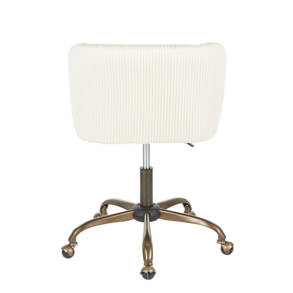 Lumisource Fran Antique Cream Corduroy Adjustable Task Chair Oc Fran Cor Ancr The Home Depot