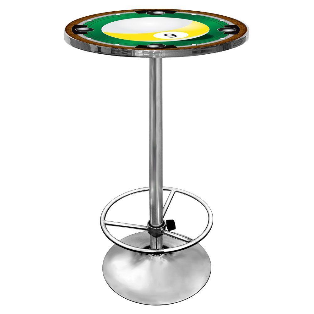 9-Ball Chrome Pub/Bar Table