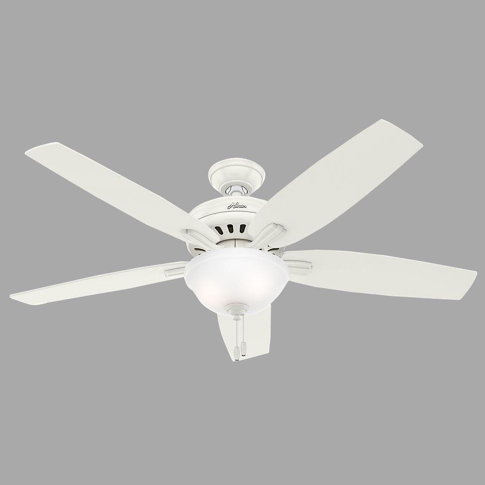 Hunter Newsome 56 In Indoor Fresh White Bowl Light Kit Ceiling Fan