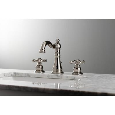 American Classic 8 in. Widespread 2-Handle Bathroom Faucet in Polished Nickel