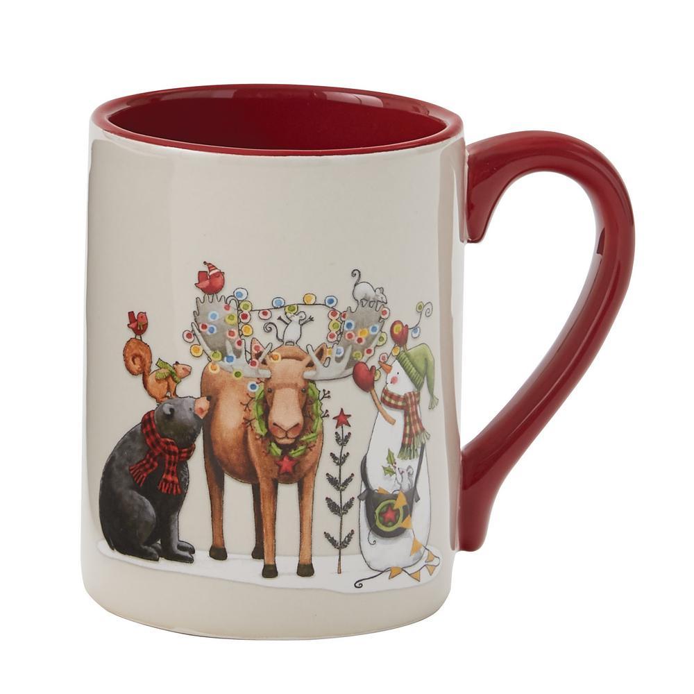 Northwoods Multicolor Ceramic Coffee Mug (Set of 4)