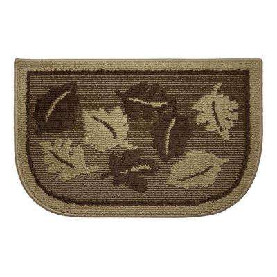 Livingston Leaves 18 in. x 30 in. Kitchen Rug