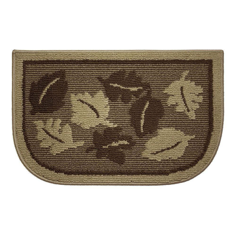 Structures Livingston Leaves 18 In X 30 In Kitchen Rug