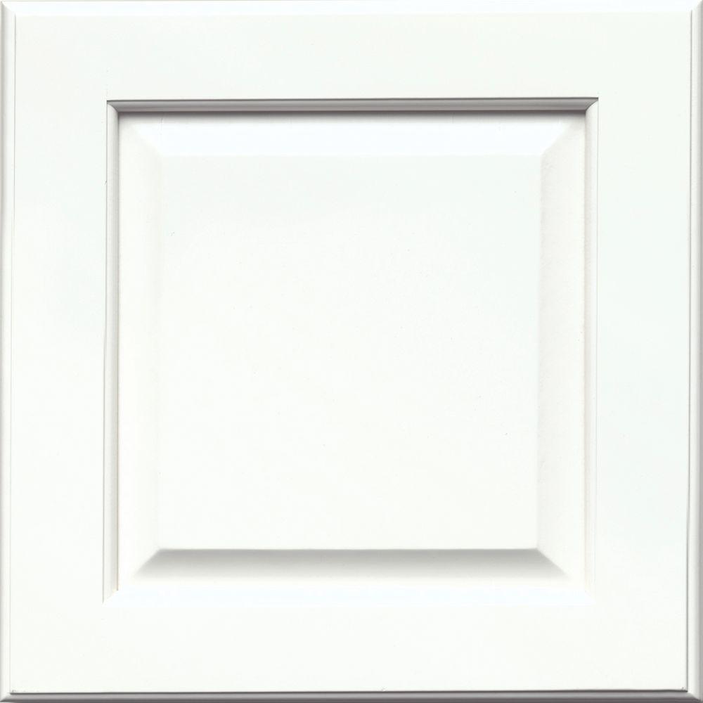 15x15 in. Cabinet Door Sample in Fox Hill Maple Square in Dove White