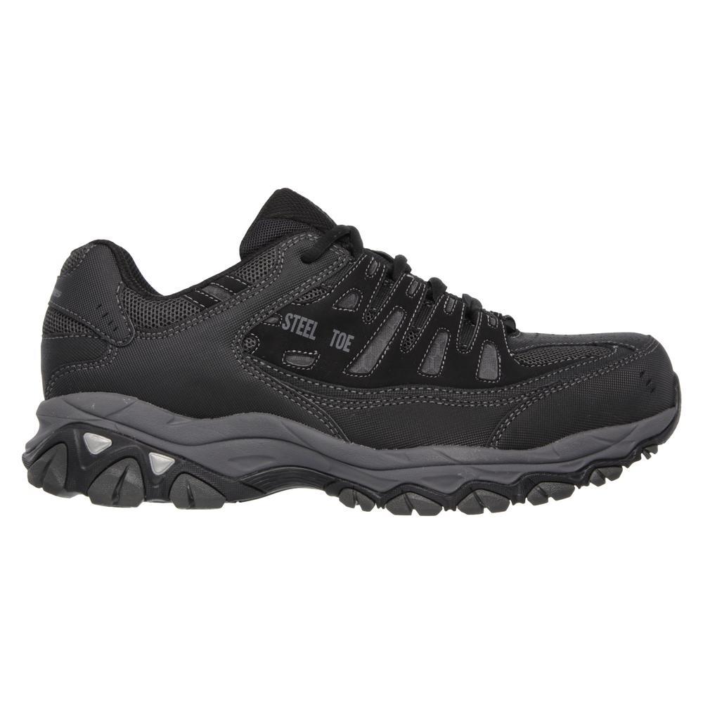 Skechers Crankton Steel Toe Schwarz Charcoal Schuhe Herren