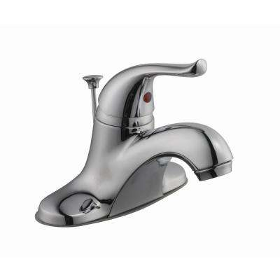 Constructor 4 in. Centerset 1-Handle Low-Arc Bathroom Faucet in Chrome