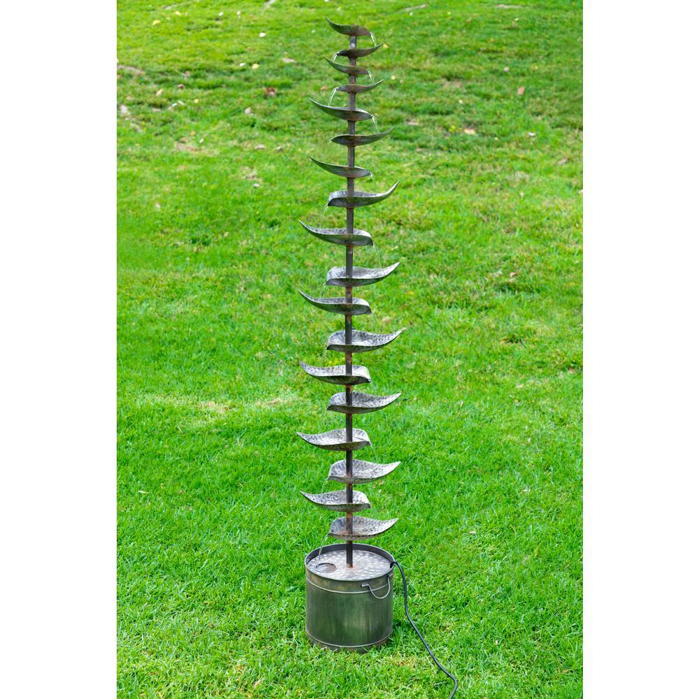 Alpine Corporation Metal Silver Tiered Fountain