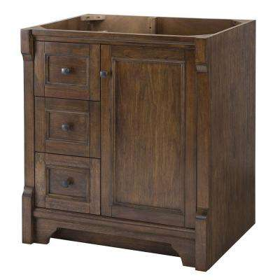 Creedmoor 30 in. W x 34 in. H Vanity Cabinet Only in Walnut