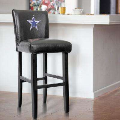 Dallas Cowboys 30 in. Black Bar Stool with Faux Leather Cover (Set of 2)
