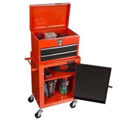 11 in. 2-Drawer Tool Chest and Cabinet Combo, Red