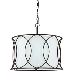 CANARM Monica 3-Light Oil Rubbed Bronze Chandelier by CANARM