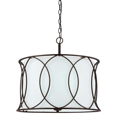 Monica 3-Light Oil Rubbed Bronze Chandelier