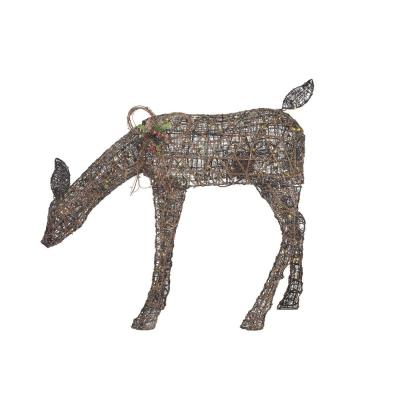 3.5 ft Meadow Frost Animated LED Brown Doe