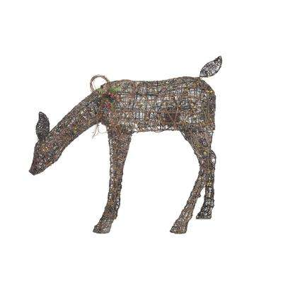 Meadow Frost 38 in. Christmas Warm White LED Brown PVC Animated Doe