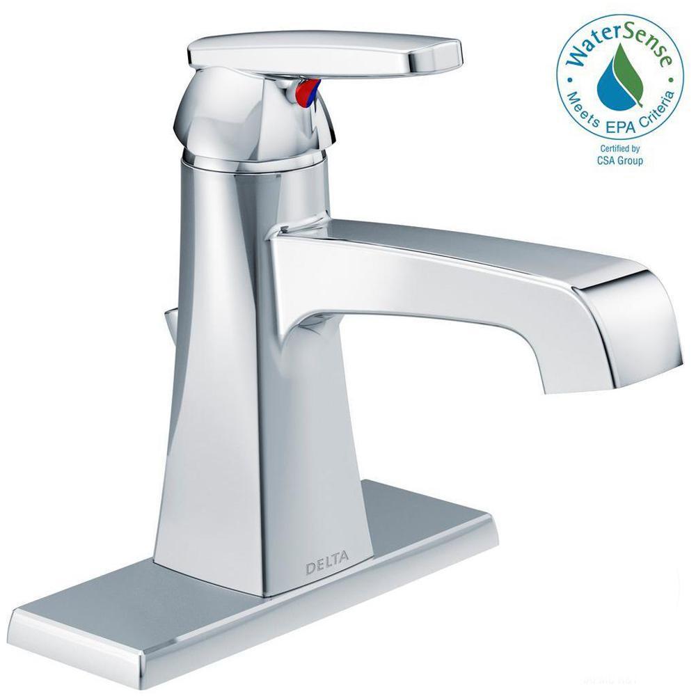 Ashlyn Single Hole Single-Handle Bathroom Faucet with Metal Drain Assembly in Chrome