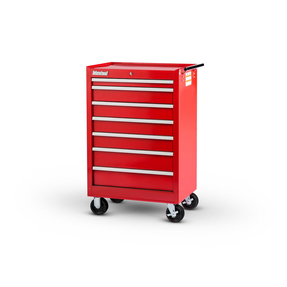 Tech Series 27 in. 7-Drawer Roller Cabinet Tool Chest Red