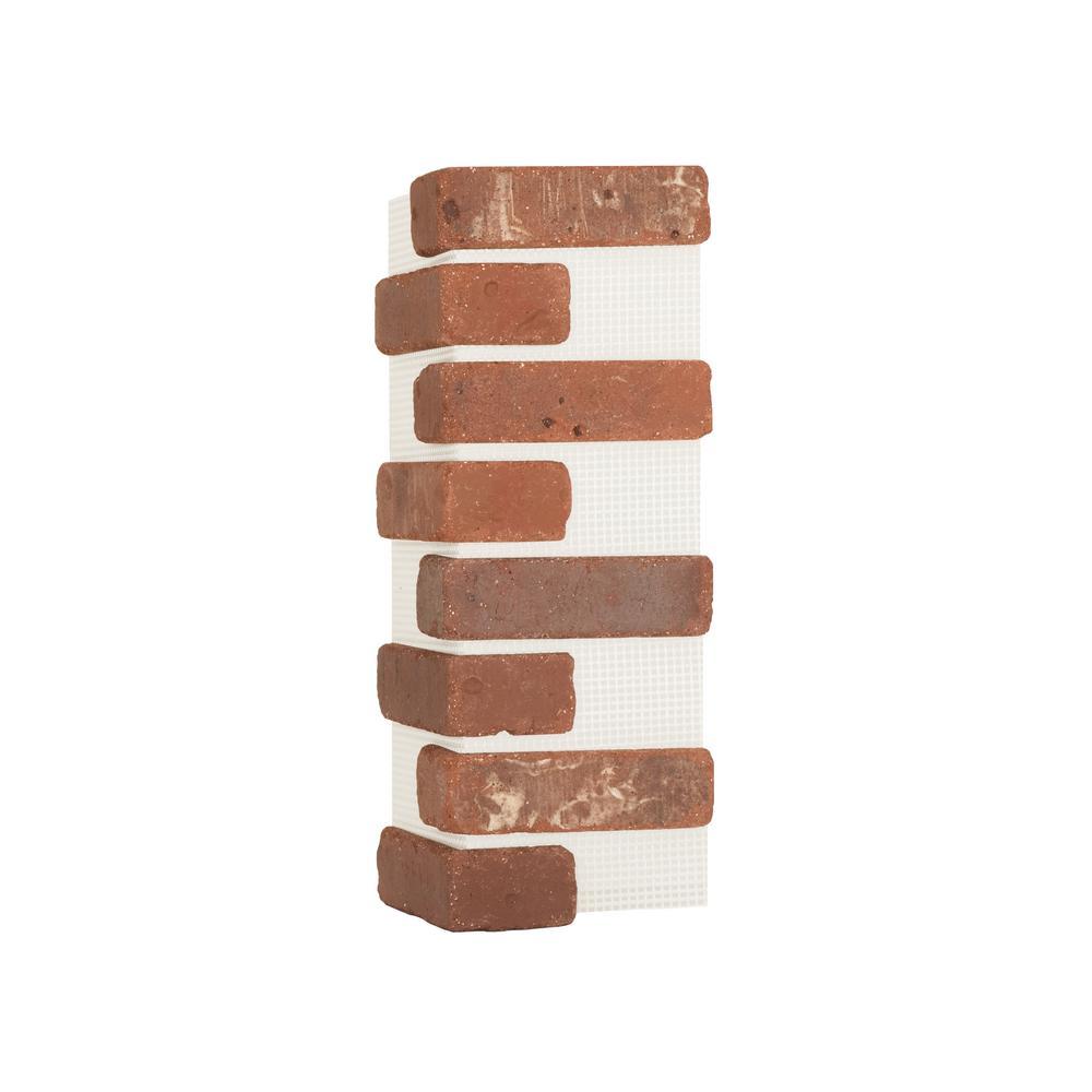 Brickwebb Boston Mill Thin Brick Sheets - Corners (Box of 3 Sheets)  21 in x 15 in (5.3 linear ft.)