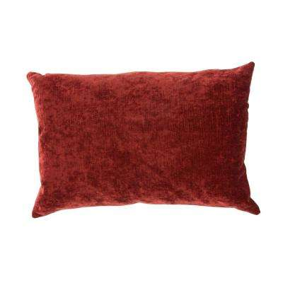Luxe Russet Brown Poly Decorative Pillow