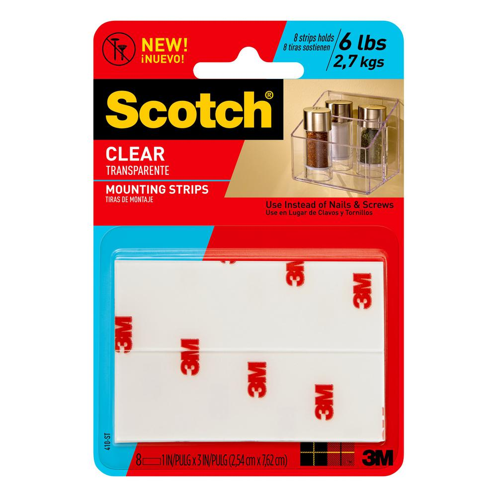 Scotch 1 in. x 3 in. Permanent Double Sided Clear Mounting