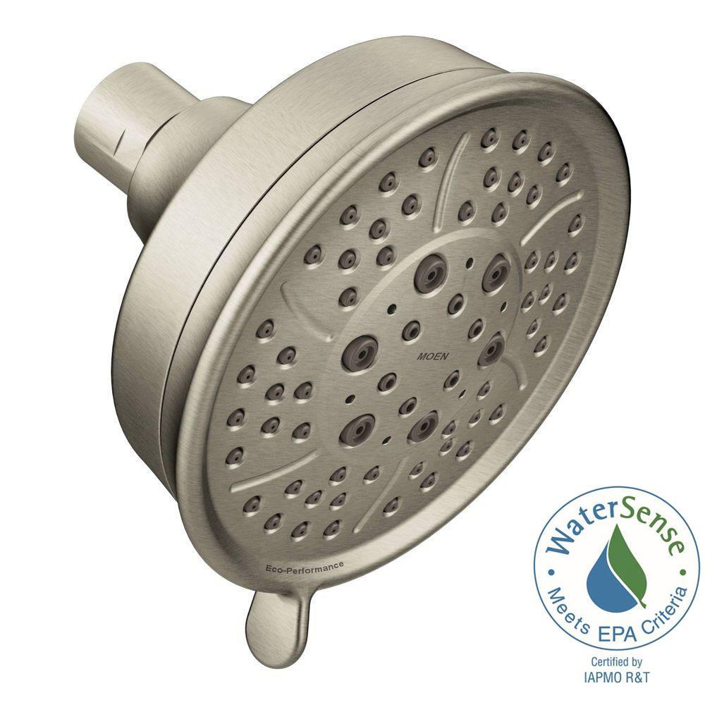 4-Spray 4-3/8 in. Eco-Performance Showerhead in Brushed Nickel