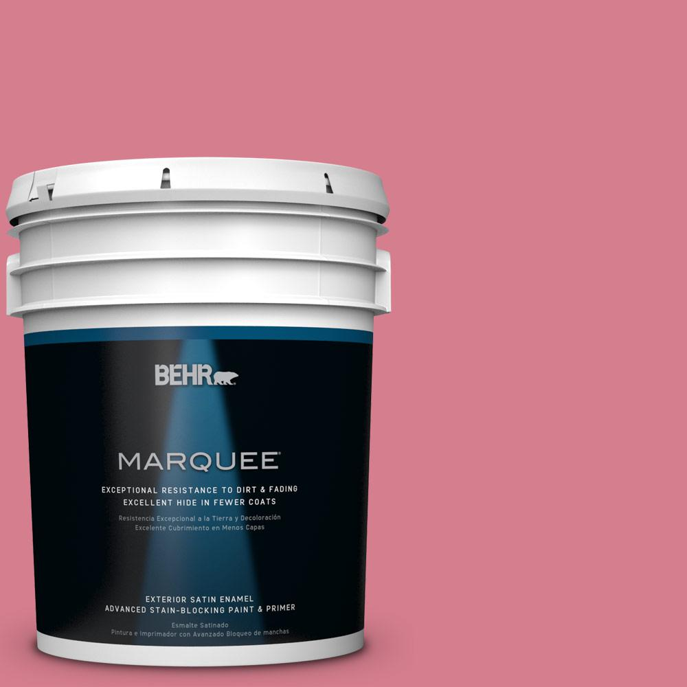5-gal. #P140-4 I Pink I Can Satin Enamel Exterior Paint