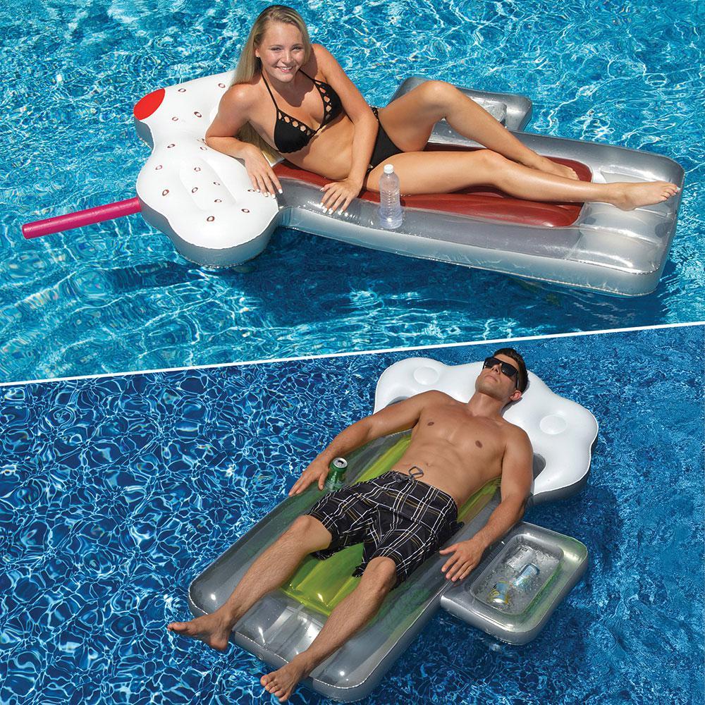 Swimline Beer Mug and Root Beer Mug Swimming Pool Float Combo (2-Pack) by Swimline