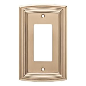 Emery Decorative Single Rocker Switch Cover, Champagne Bronze