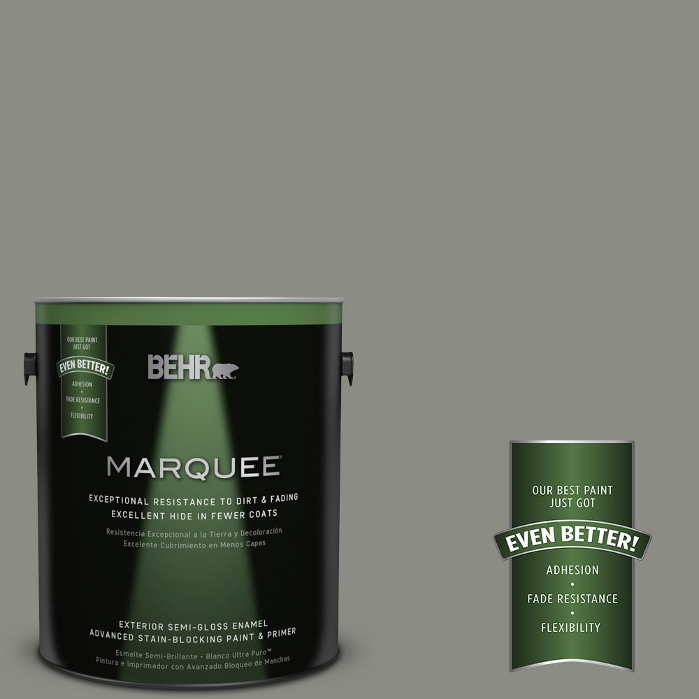 BEHR MARQUEE 1-gal. #N380-5 Naturalist Gray Semi-Gloss Enamel Exterior Paint