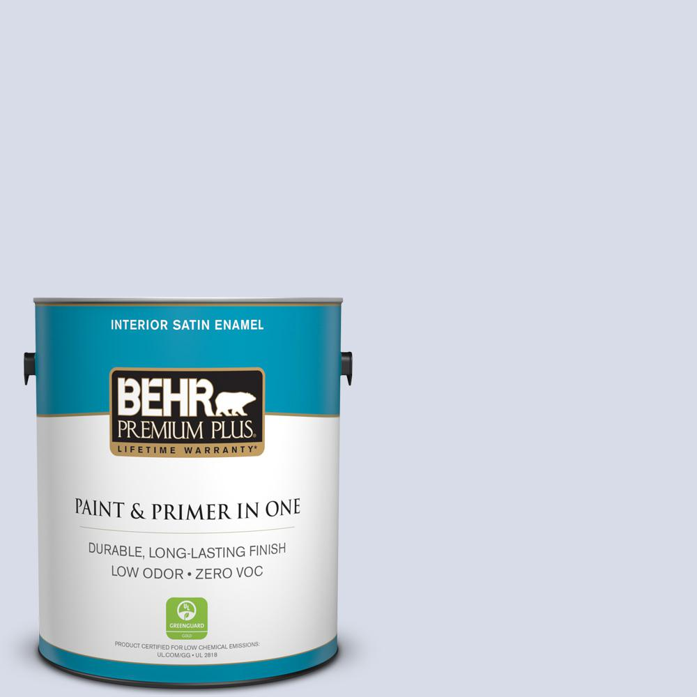 BEHR Premium Plus 1-gal. #630C-2 Sweet Harbor Zero VOC Satin Enamel Interior Paint