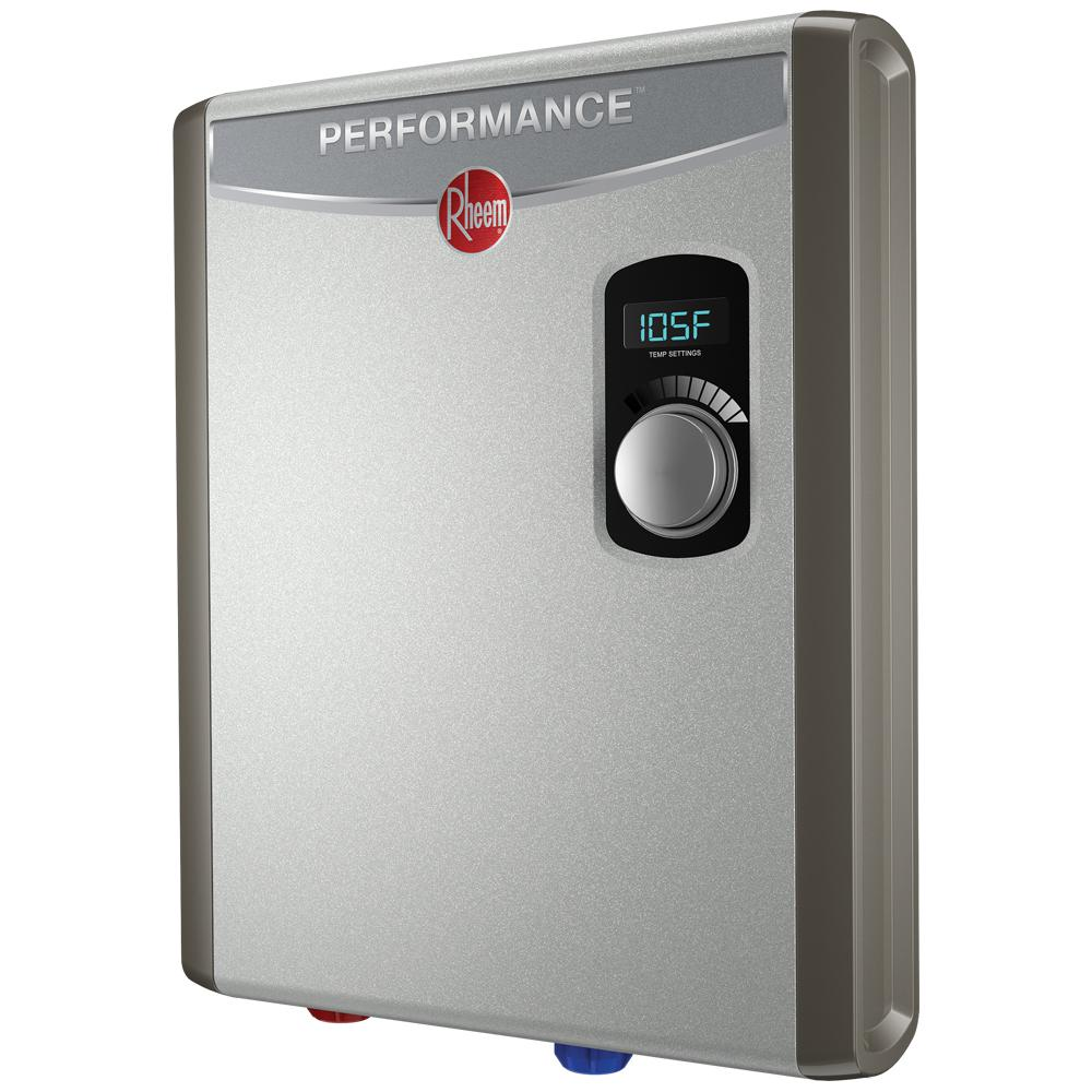 rheem rte 13. Rheem Performance 18 KW Self-Modulating 3.5 GPM Electric Tankless Water Heater Rte 13 T