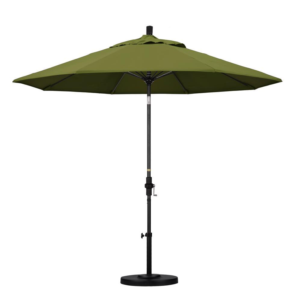 9 ft. Fiberglass Collar Tilt Patio Umbrella in Palm Pacifica