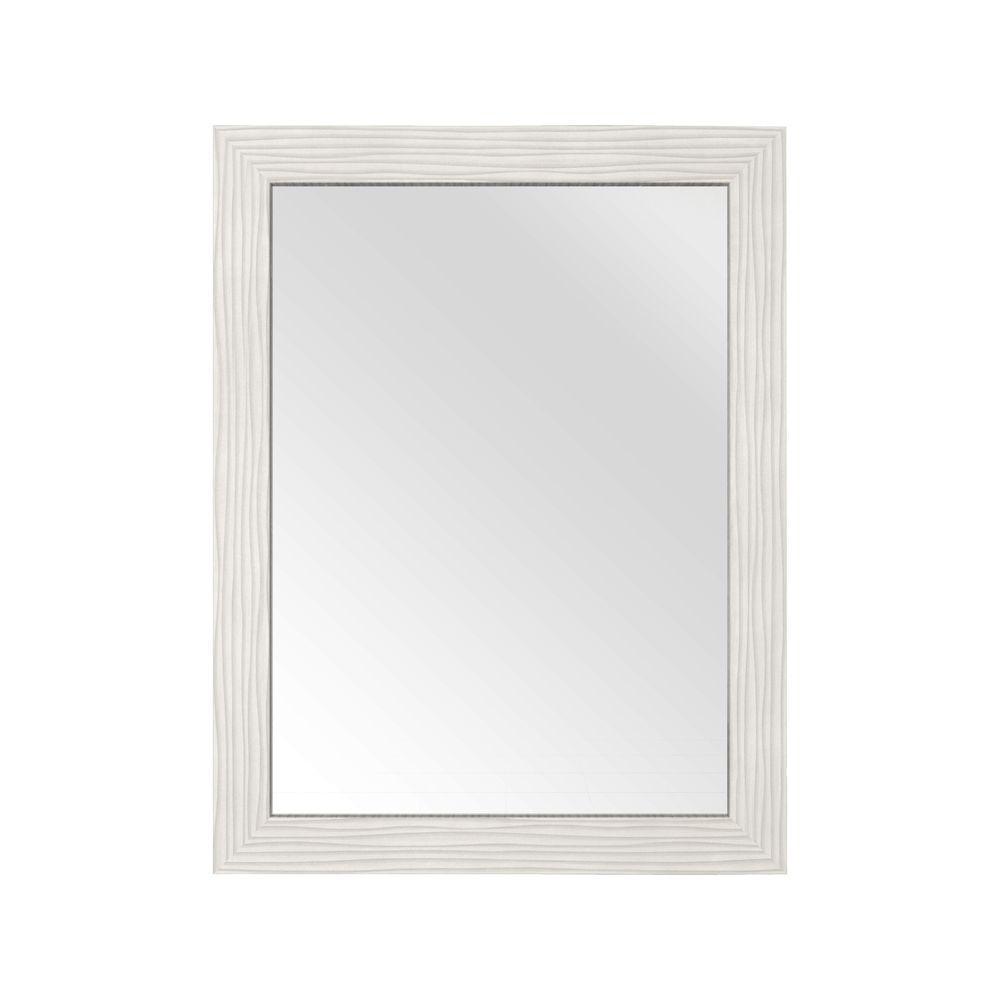 30 in. L x 23 in. W Framed Wall Mirror in