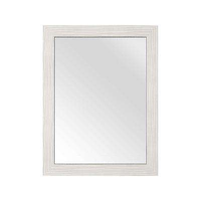 30 in. L x 23 in. W Framed Wall Mirror in Contour White