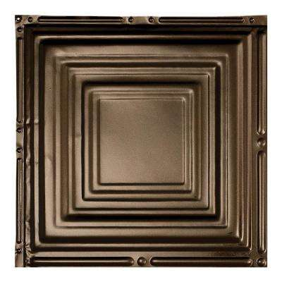 Syracuse Bronze Burst 12 in. x 12 in. Nail-Up Ceiling Tile Sample