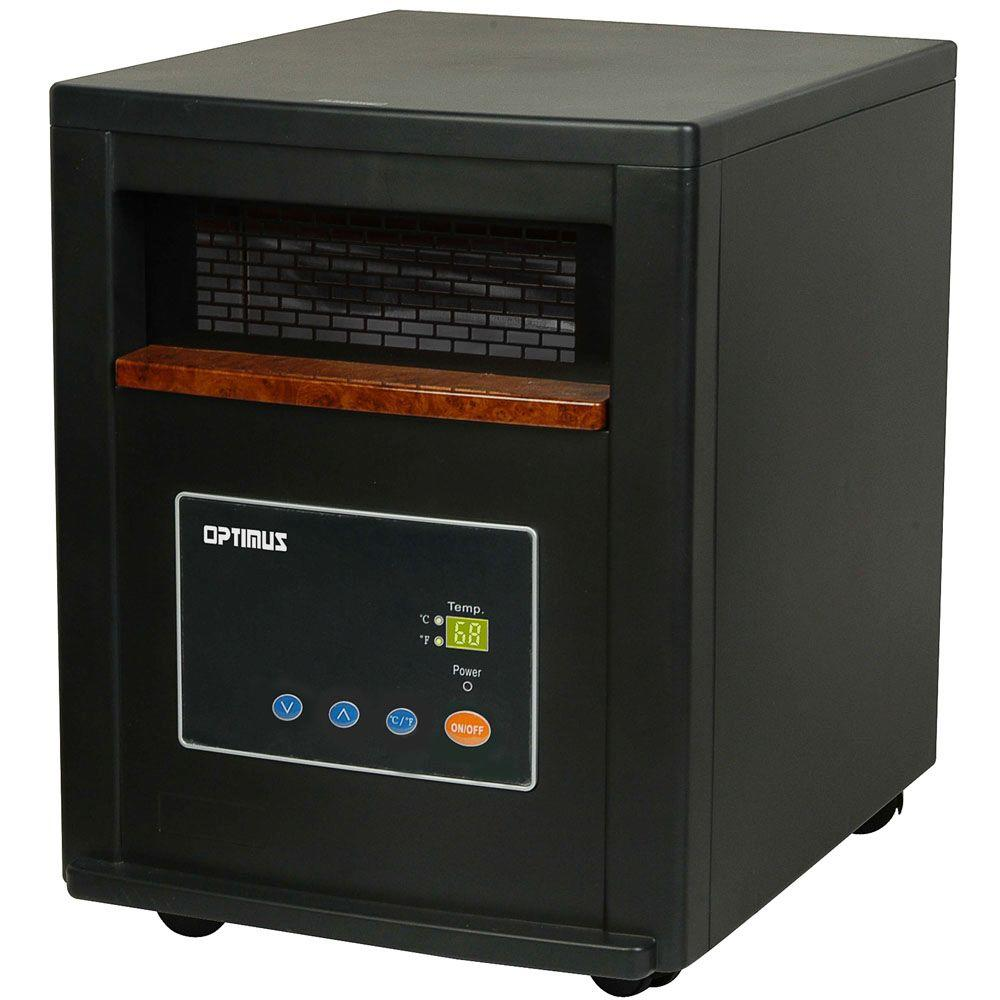 Optimus 1500-Watt Quartz Infrared Heater with Remote