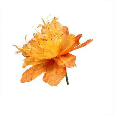 26 in. Orange and Green Decorative Spring Floral Artificial Craft Stem