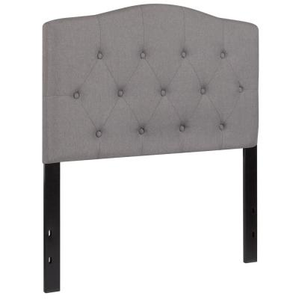 Light Gray Twin Headboard Panel Design