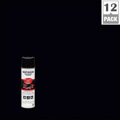 17 oz. M1600 System Precision Line Solvent-Based Black Inverted Marking Spray Paint (12-Pack)