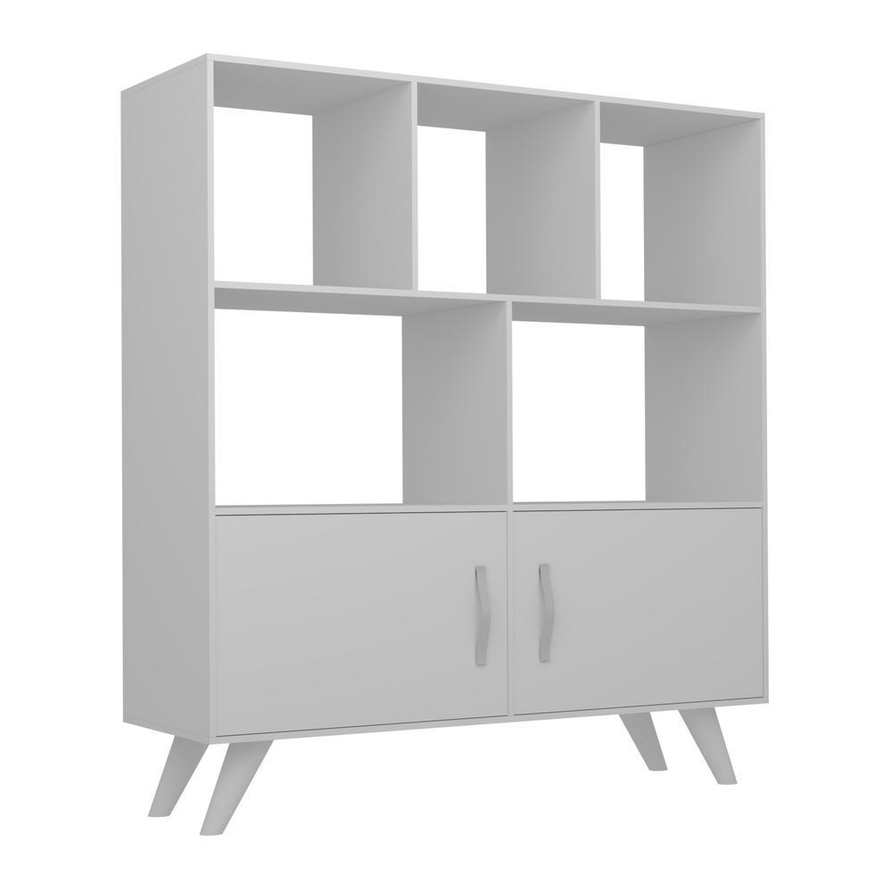 Besly White Modern Bookcase